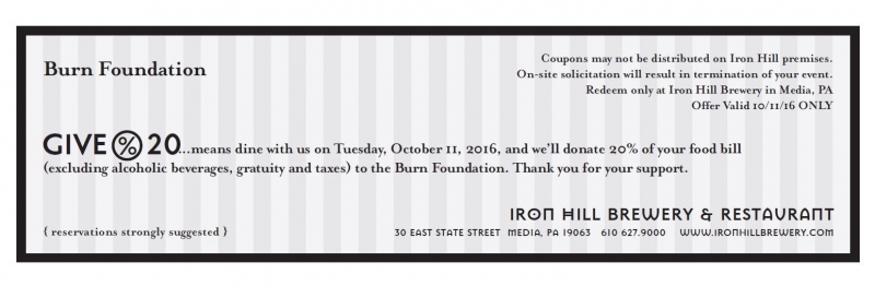Iron Hill Brewery benefit for the Burn Foundation
